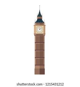 Big Ben Vector Illustration in Flat Design