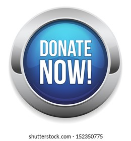 Big blue donate now button