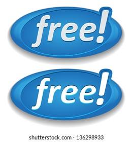 Big blue free button
