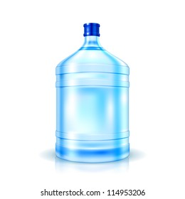 Big Bottle of Water for cooler isolated on white. Vector Illustration