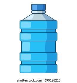 Big bottle of water icon. Cartoon illustration of big bottle of water vector icon for web design
