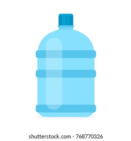 Big bottle of water. Vector illustration isolated on white background
