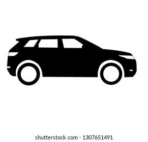 big british luxury SUV land rover evoque vector logo