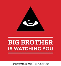 Big brother is watching you poster