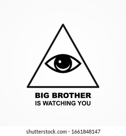 Big brother is watching you poster. Vector illustration