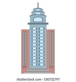 big building style icon vector illustration design