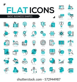 Big bundle of modern icons in thin line style - startups, marketing, business strategies, finances, tax payments, innovations, career development, thinking, internet education. Vector illustration.