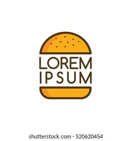 big burger logo logotype theme