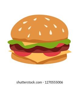 Big burger with sesame