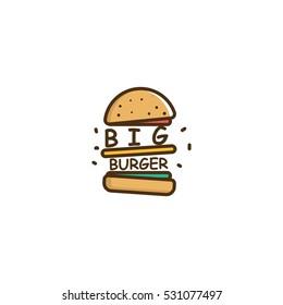 Big Burger Vector Logo Design Element