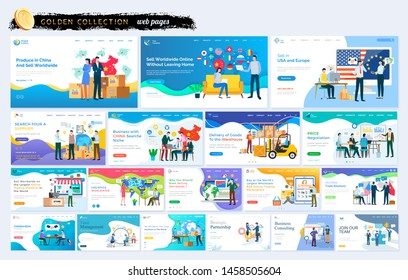 Big business set marketplace. Produce in China sell worldwide online, sell in USA and Europe, search supplier, delivery goods to warehouse, collaboration, logistiсs worldwide, us-china trade relations
