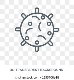 Big Cellule icon. Trendy flat vector Big Cellule icon on transparent background from Human Body Parts collection. High quality filled Big Cellule symbol use for web and mobile