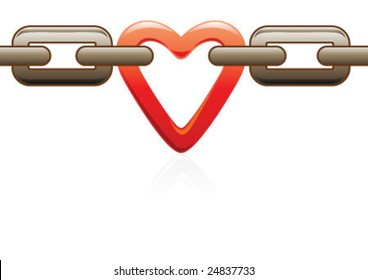 The big chain with the heart one