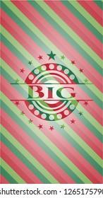 Big christmas badge.