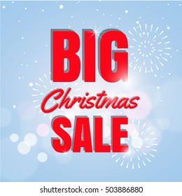 Big Christmas sale poster