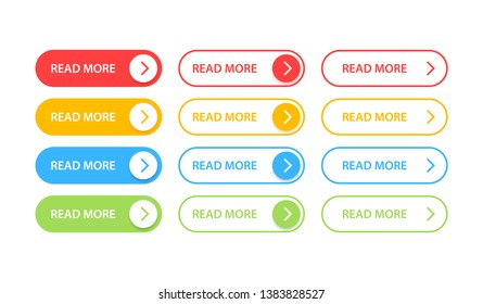 Big collection buttons Read More. Different colorful button set. Web icons. Vector illustration