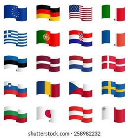 big collection of country flags No.1 vector