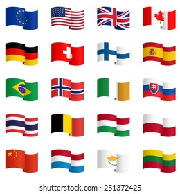 big collection of country flags No.2 vector