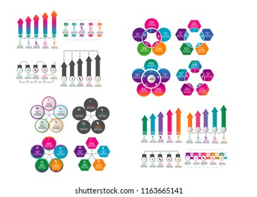 Big collection of modern timeline infographic element template design vector