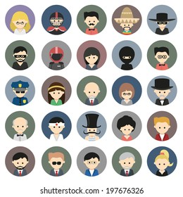 Big collection of people icons. Vector eps10