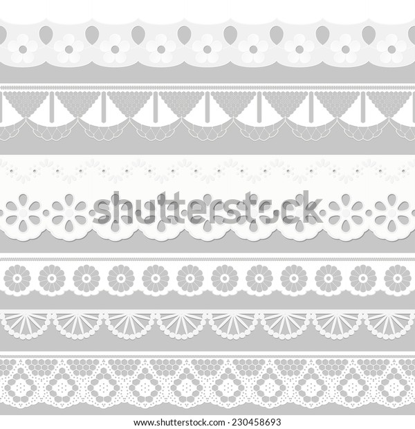 big collection seamless tissue ribbons - festoons