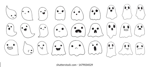 Ghosts Drawing Images Stock Photos Vectors Shutterstock