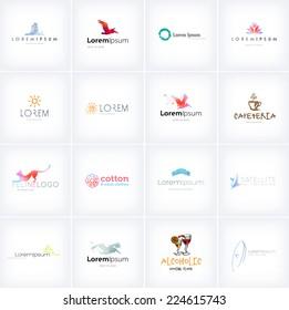 Big collection of vector logo design templates