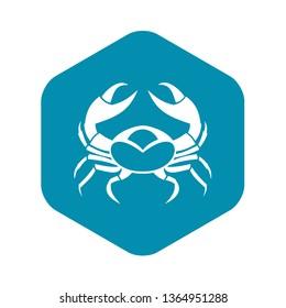 Big crab icon. Simple illustration of big crab vector icon for web