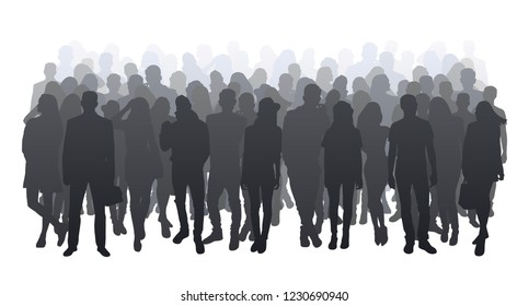 Crowd Silhouettes Images Stock Photos Vectors Shutterstock Silhouette crowd free brushes licensed under creative commons, open source, and more! https www shutterstock com image vector big crowd silhouette 1230690940