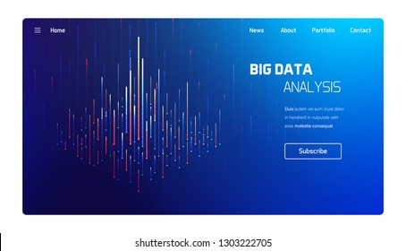 Big data analysis, computer processing visualisation, business analytics