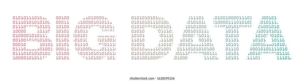 Big Data with binary texture vector illustration