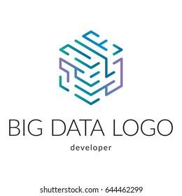 Big data company logotype