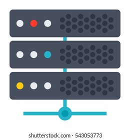 Big data concept with server and network