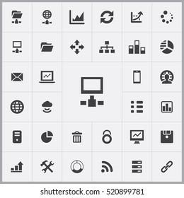 big data, database icons universal set for web and mobile