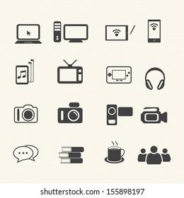 Big Data icon set,  Entertainment