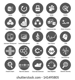 big data icons set for business and enterprise