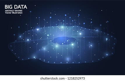 Big data. Internet connection, abstract sense of science and technology analytics concept graphic design. Vector illustration