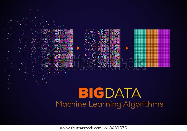 Big Data Machine Learning Algorithms Analysis Stock Vector (Royalty