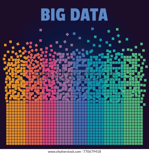 Big Data Machine Learning Artificial Intelligence Stock Vector
