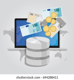 big data monetization selling database pay with money for storage  world block chain
