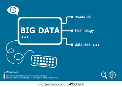 Big data related words concept. Infographic business for graphic or web design layout