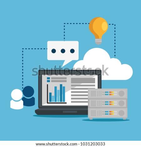 Big Data Set Icons Stock Vector (Royalty Free) 1031203033