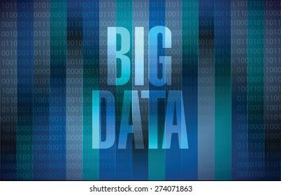 Big data sign concept illustration design over black