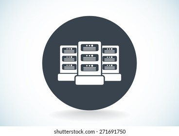Big data and technology vector icon