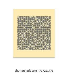 Big data Vector black icon on color sticker. Material design