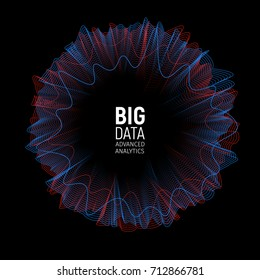 Big data vector visualization illustration. Futuristic Advanced Information analytics abstract Infographic Design.