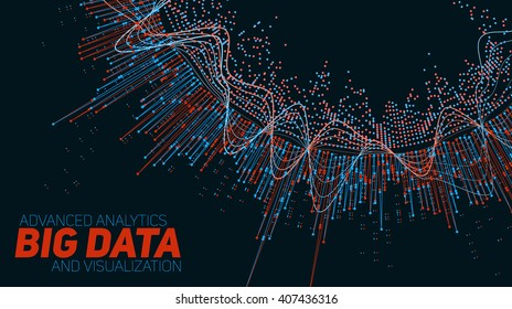 Big data visualization. Futuristic infographic. Information aesthetic design.