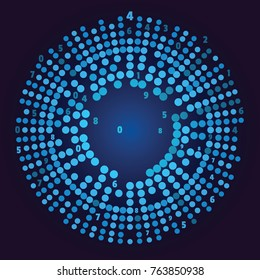 Big data visualization. Social network representation. Big data array visual concept. Graphic abstract blue background. Vector illustration for web and bisiness design