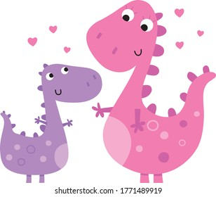 Big dinosaur and little dinosaur