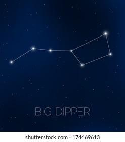 Big Dipper constellation in night sky